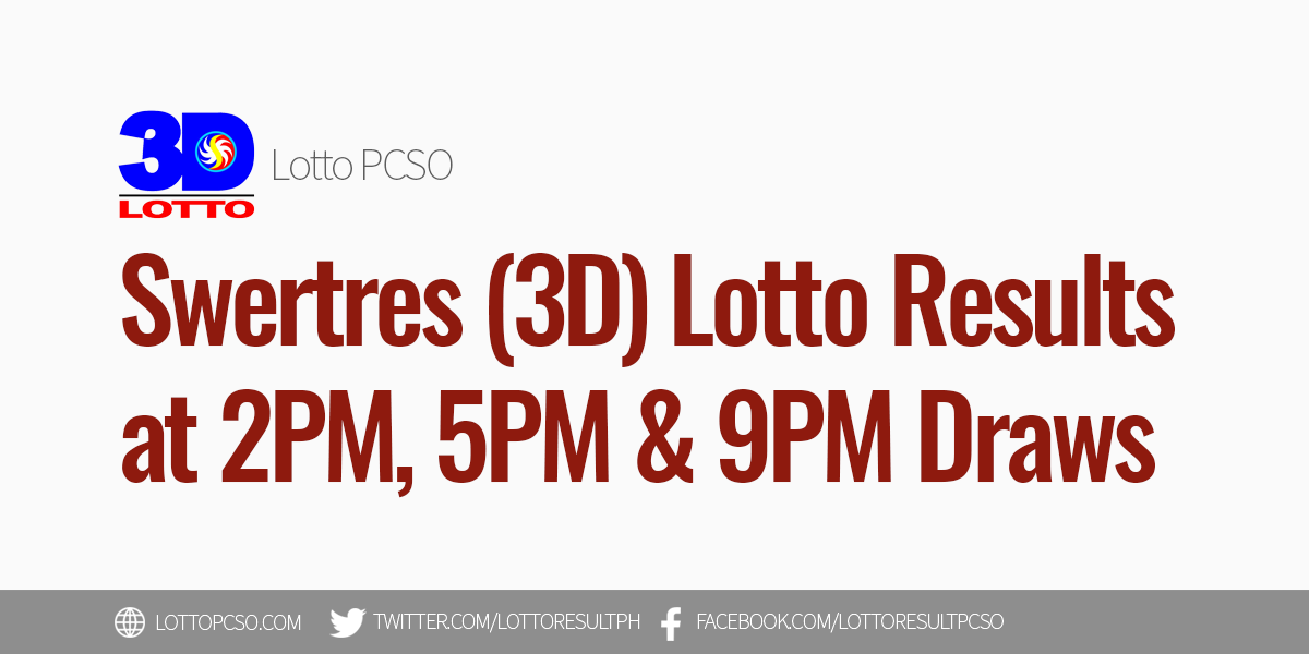 Swertres Result December 22 2020 Pcso 3d Lotto Results